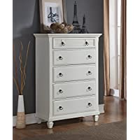 Roundhill Furniture Regitina 016 Bedroom Chest, White