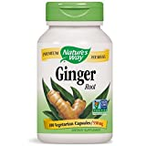 Nature's Way 13100 Ginger Root; 1.1 gram Ginger Root per serving; Non-GMO Project Verified; TRU-ID Certified; Gluten-Free; Vegetarian;  100 Capsules