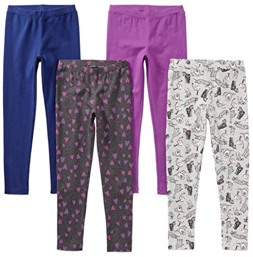 Spotted Zebra Toddler Girls' 4-Pack Leggings, Animal, 3T