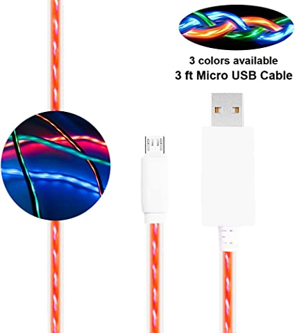 Auto Drive Lighted Micro USB Cable 3 ft