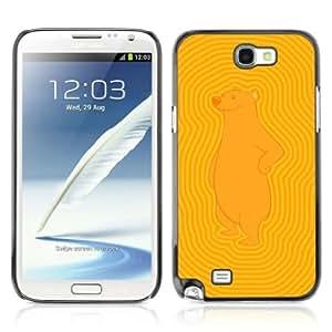 Lmf DIY phone case [Funny Bear Pattern] Samsung Galaxy Note 2 CaseLmf DIY phone case
