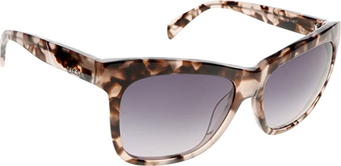 11d520141f Image Unavailable. Image not available for. Color  Diesel Eyewear Unisex Square  Sunglasses (Tortoise ...