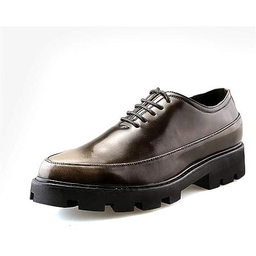 Hilotu-Scarpe da uomo Nere Scarpe Classiche Moderne in Pelle con Lacci cap  Oxford Scarpe c1912bb4df5