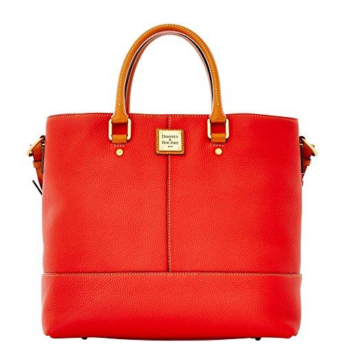 Pebble Leather Shopper (Dooney & Bourke Dillen Chelsea Pebble Leather Cherry Red Shopper)