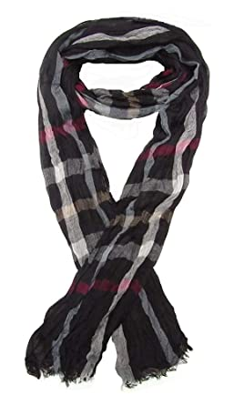 Générique Foulard, chèche écharpe pour homme noir rayé multicolore, 180 x  60 cm. 0b71b20d0c3
