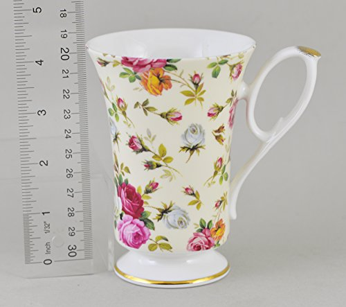 Fine English Bone China ANTIQUE ROSE CHINTZ (Antique English Bone China)