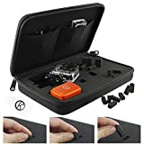 CamKix Carrying Case with Customizable Interior for Gopro Hero 5 Black and Session, Hero 4, Session, Black, Silver, Hero+ LCD, 3+, 3, 2, 1 - Tailor the Case to Your Needs - Travel or Home Storage