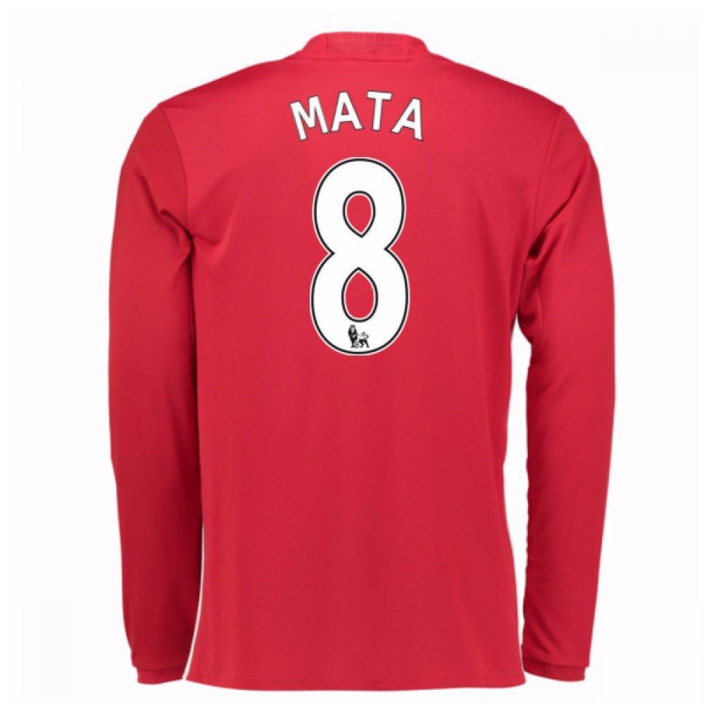 2016-17 Man United Home Long Sleeve Football Soccer T-Shirt Trikot (Juan MATA 8)