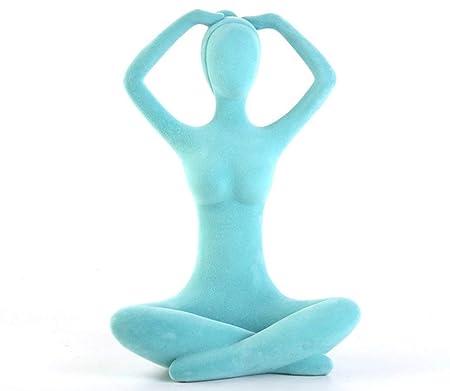 OYQQ Escultura Estatua Resumen Yoga Personaje Estatua Chica ...