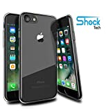 Shock Tech iPhone 8 / iPhone 7 Clear Slim Case Flexible Hybrid Thin Soft Gel Absorbing Transparent Silicone TPU Bumper Rubber Back Protective Cover