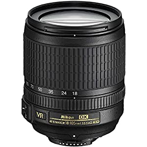Nikon 18-105mm f/3.5-5.6 AF-S DX VR ED Nikkor Lens for Nikon Digital SLR Cameras (Certified Refurbished) from Nikon