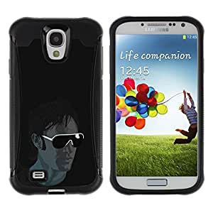 LASTONE PHONE CASE / Suave Silicona Caso Carcasa de Caucho Funda para Samsung Galaxy S4 I9500 / Sunglasses Guy