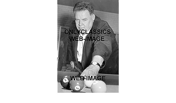 1965 BILLIARDS POOL SHARK MINNESOTA FATS RUDOLPH WANDERONE 8X12 PHOTO CUE SHOT
