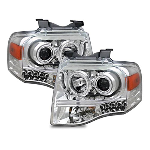 SPPC Chrome Projector Headlights CCFL Halo For Ford - Ford Expedition Chrome Headlights