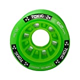 MOTA Roll Toxic Hybrid Roller Derby Skate Wheels - Available in 5 Two Sizes 62x41mm & 59x38mm - Great for Indoor surfaces - 93A Hardness - Green 62mm 8pk