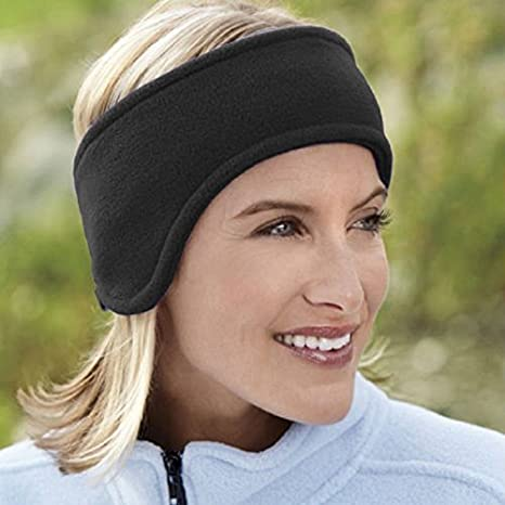 Image Unavailable. Image not available for. Color  Women Men Ear Warmer  Winter Head Band Polar Fleece Ski Black Ear Muff Unisex Stretch Spandex 20d08411223c