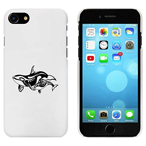 Weiß 'Orca Mutter & Baby' Hülle für iPhone 7 (MC00076006)