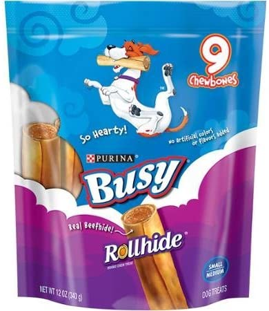 Purina Busy Rollhide Small Medium Dog Treats 9 chewbones