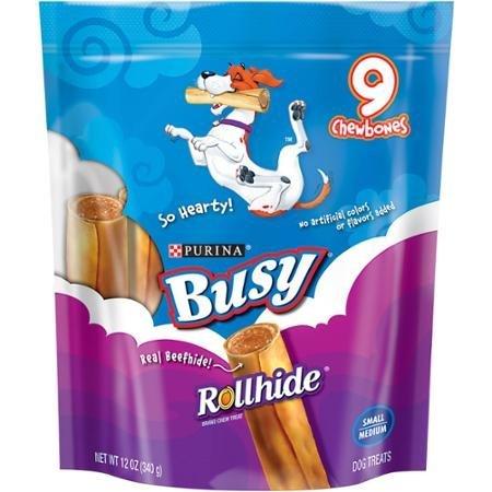 Purina Busy Rollhide Small Medium Dog Treats 9 chewbones