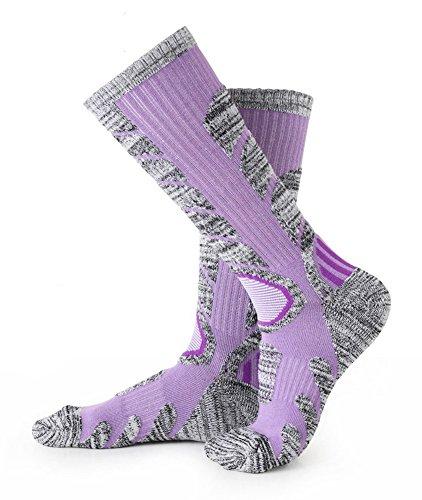 Skiing Socks Women 1 Pack Ladies Warm Ski Socks Purple