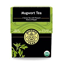 Organic Mugwort Tea - Kosher, Caffeine-Free, GMO-Free - 18 Bleach-Free Tea Bags