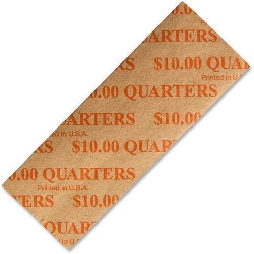 53025 PM SecurIT $10 Quarters Coin Wrapper - 1000 Wrap(s) - Sturdy - Kraft - Orange