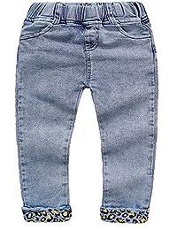 Kidscool Space Todller Leopard Printed Bottom Pencil Soft Slim Jeans