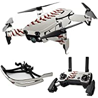 MightySkins Skin for DJI Mavic Air Drone - Baseball | Max Combo Protective, Durable, and Unique Vinyl Decal wrap cover | Easy To Apply, Remove, and Change Styles | Made in the USA