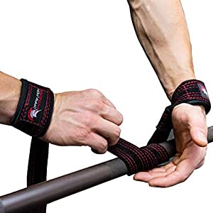 Dark Iron Fitness Weightlifting Leather Suede Lifting Straps and Bag Bundle (Lifting Stranps Only)
