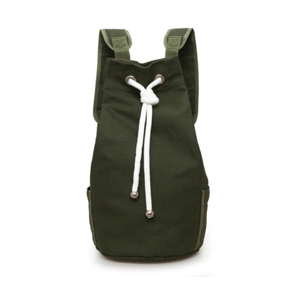 Silfrae Drawstring Backpack Durable Canvas Basketball, Football, Soccer and Gym Bag