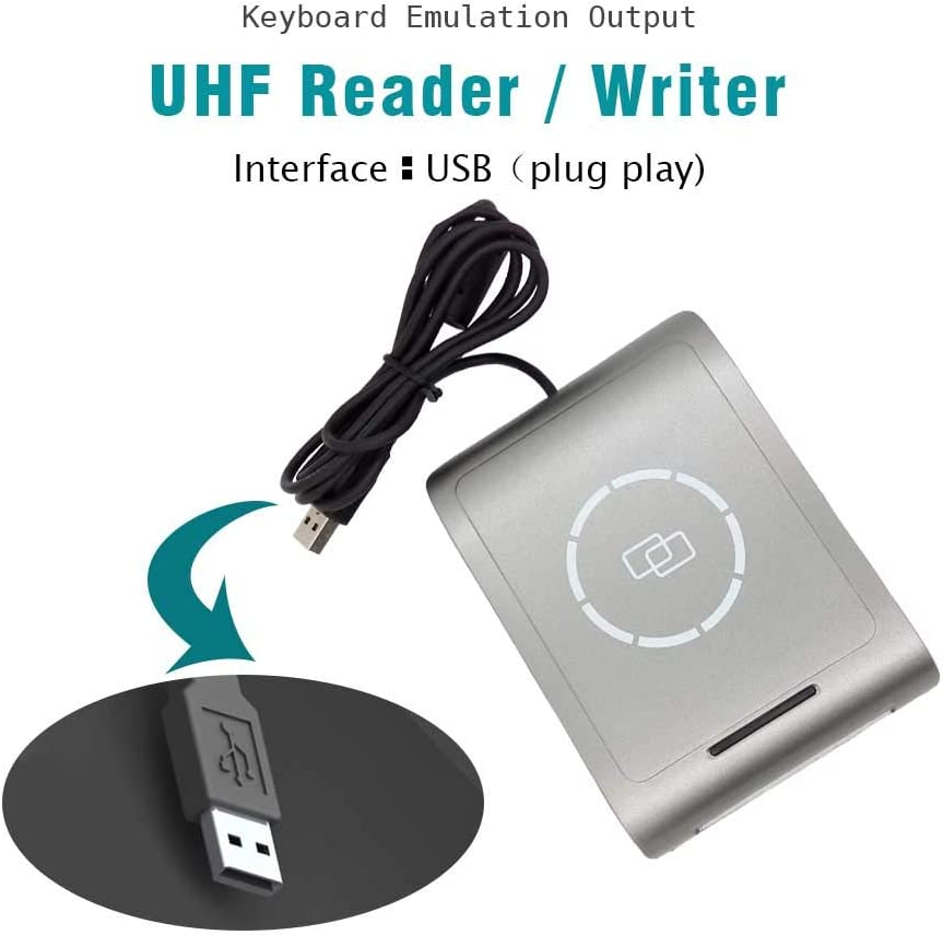 860-960Mhz UHF RFID Reader Support UHF EPC Gen2 Contact Writer ...