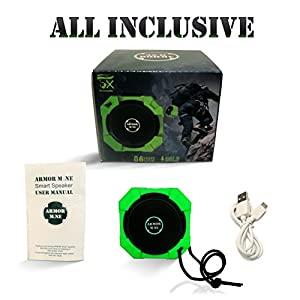 Speakers with Bluetooth - Wireless Powerful Hi-Def Bass Sound; Top Rated Bluetooth Speaker; Rugged Water Resistant Shockproof Outdoor Ultra-Portable His or Her Gift, Cute Green
