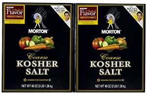 Morton Salt Kosher Salt, 3 lb, 2 pk