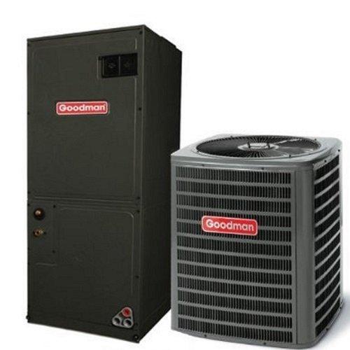 (Goodman R410A 13 SEER Complete Split System Heat Pump 4 Ton GSZ130481,)