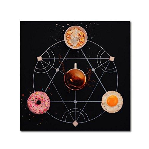 Trademark Fine Art Breakfast Alchemy by Dina Belenko, 14x14-Inch Canvas Wall (Alchemy Canvas)