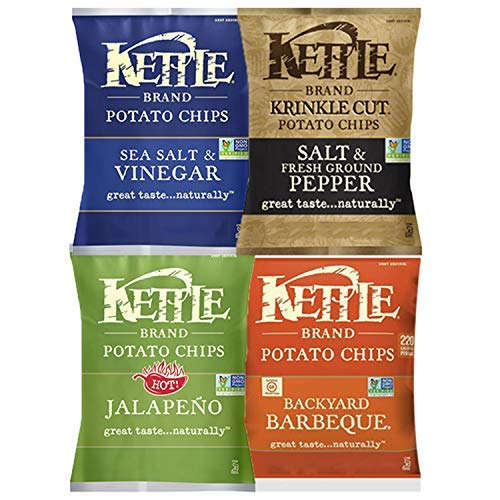 Kettle Brand Potato Chips, Individual Single Serve Bags, Many Different Flavors Sampler Variety Pack (24 Count) by Custom Varietea (Image #3)