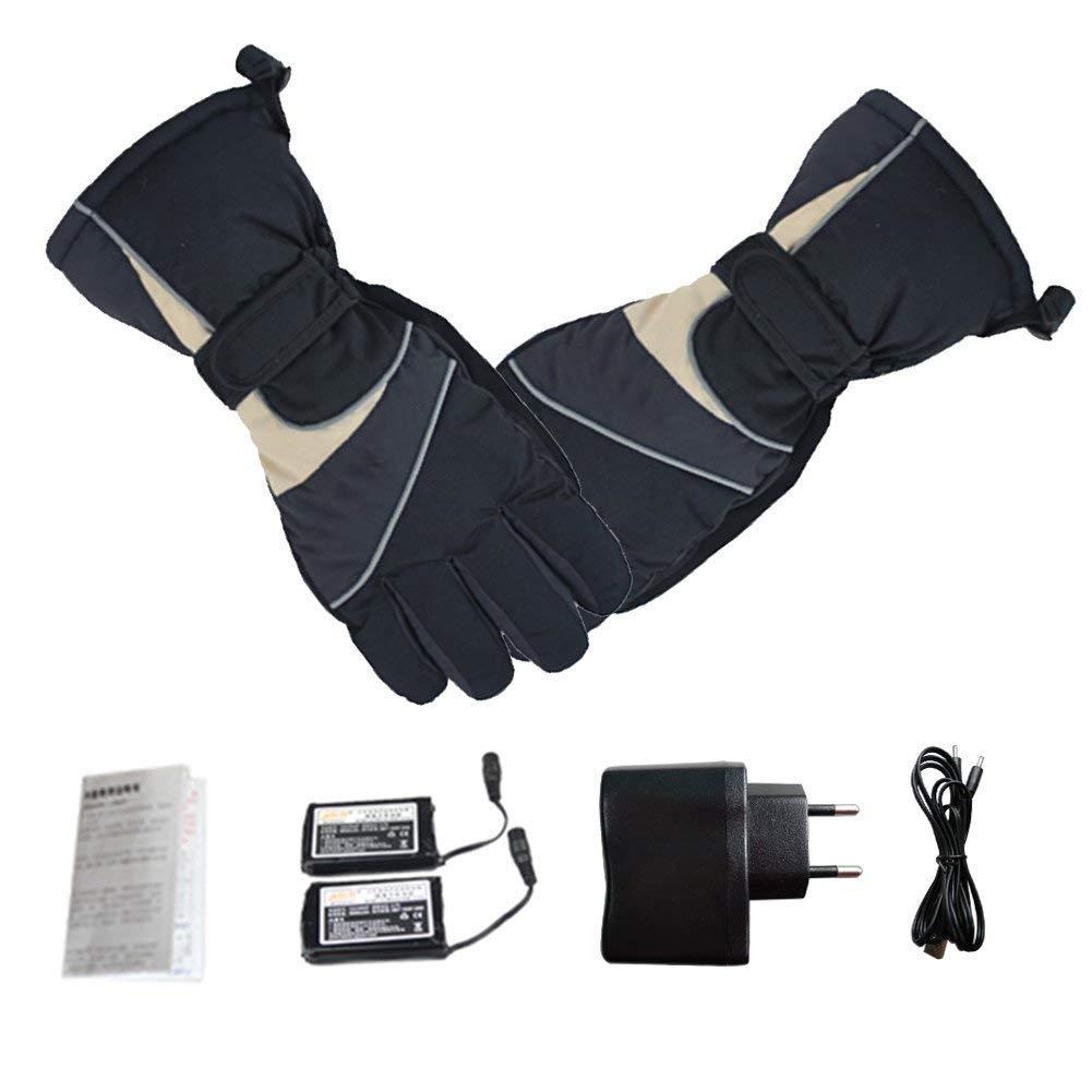 ALCST&CX Beheizte Handschuhe, Wiederaufladbare Beheizbare Handschuhe mit Wärmere Liner für Outdoor Klettern Wandern Radfahren Snowboarden