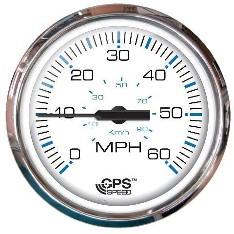 Faria Speedometer - Faria Chesapeake White SS 60 MPH GPS Speedometer