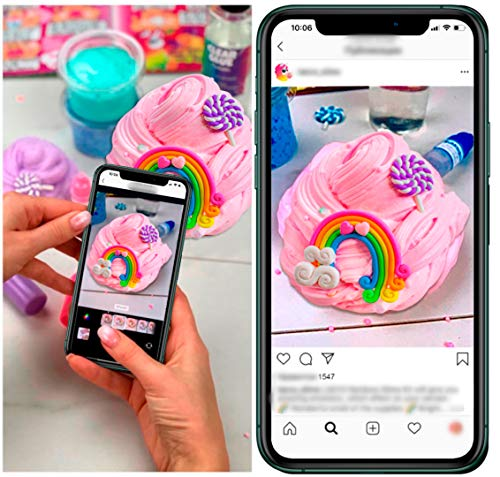 Laevo Unicorn Slime Kit for Girls - Slime DIY Supplies Slime Kits - Slime Making Kit Cloud Slime Kit for Boys - DIY Slime Kit with Instant Snow, Clear Glue, Foam Balls, Slime Glue