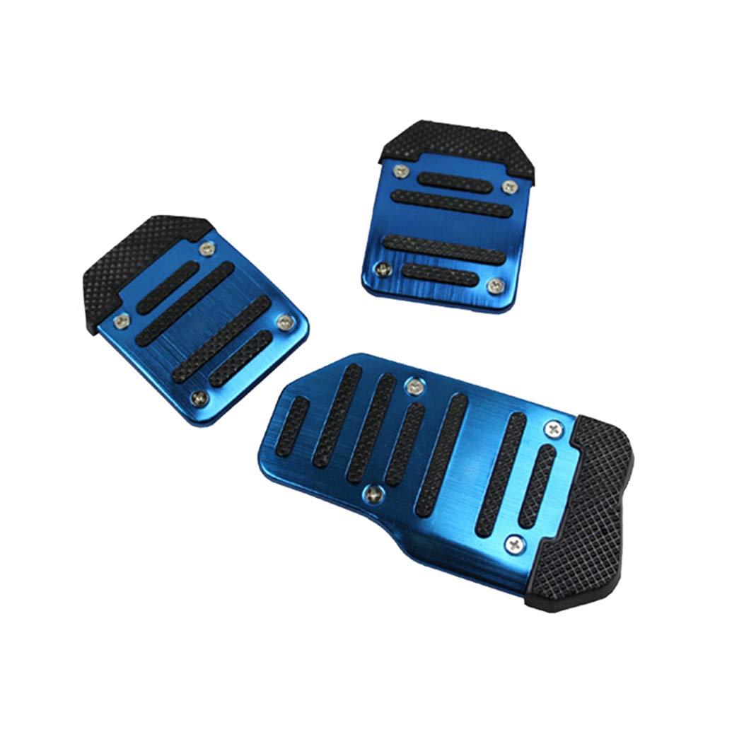 Universale Car Vehicle sports Auto Freno a Pedale Clutch Gas Pedals Cover Frizione Pedali Resto Piastra Set Prevenire Lo Slittamento MT blue 3Pezzi