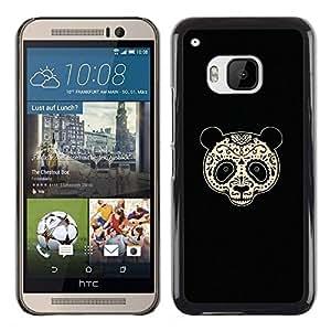 GIFT CHOICE / Teléfono Estuche protector Duro Cáscara Funda Cubierta Caso / Hard Case for HTC One M9 // Sugar Floral Panda Bear //