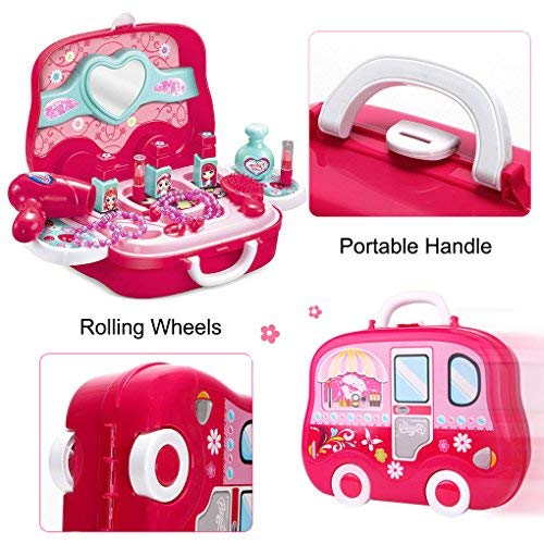 Role Play Jewelry Kit for Girls Toy Set Princess Suitcase Gift for Kids Children 3 Years Old by YIMORE (Image #1)