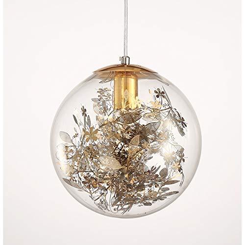Metal Flower Pendant Light in US - 9