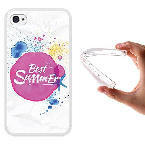WoowCase Hülle Case für { iPhone 4 iPhone 4S } Handy Cover Schutzhülle Die besten Sommerferien
