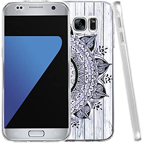 S7 Case, Samsung Galaxy S7 Case Purple Wonderful Beautiful Art Floral Texture TPU Silicone Sales
