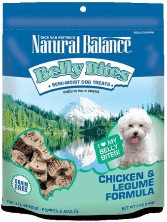 Natural Balance Belly Bites Semi-Moist Treats, 6-Ounce, Chicken And Legume