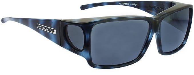 cac8849666 Jonathan Paul® Fitovers Orion Large Polarized Over Sunglasses   Blue-Demi    Polarvue Gray