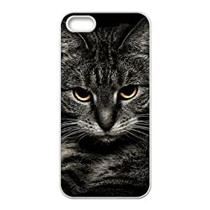 DIYCASESTORE Best Art Print Diy Hard Case for iPhone 5,5S ,Customized case Pretty Cat Art design WE468530 by mcsharks