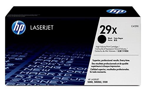 Packard Hewlett Genuine Laserjet (HP 29X (C4129X) Black High Yield Original Toner Cartridge for HP LaserJet 5000 5100)