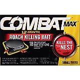 Combat 12 Month Roach Killing Bait, Small Roach Bait Station, 0.64 Ounce, 18 Count